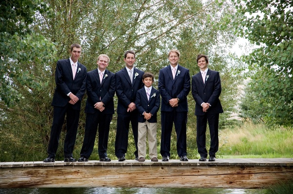 Groomsman and ring bearer attire