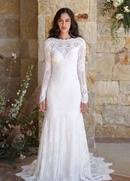 Claire Pettibone The Vineyard Romantique Collection lace fit and flare bridal gown