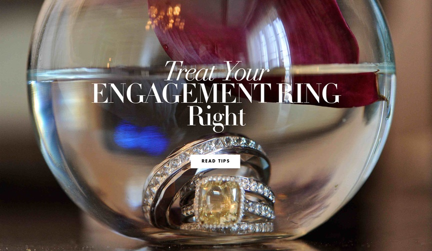 Find out how to keep your engagement ring in pristine condition.