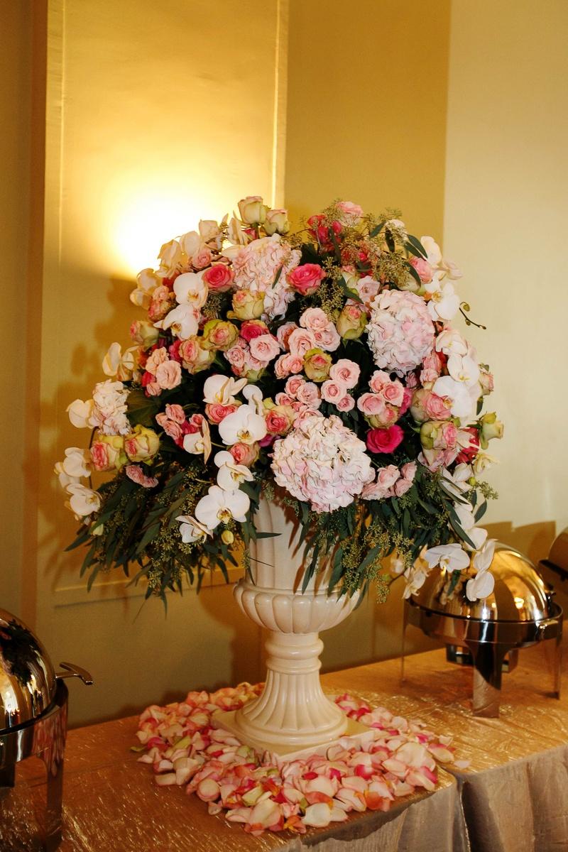 Reception Dcor Photos Buffet Flower Arrangement Inside Weddings