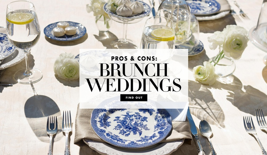 pros and cons of a brunch wedding, morning wedding, brunch reception