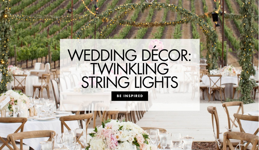 Wedding decor twinkling string lights wedding decoration ideas bistro patio lights