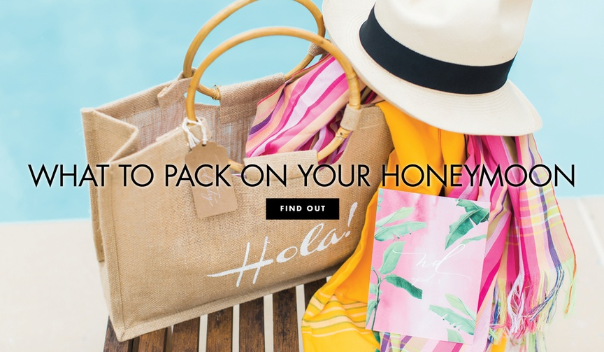 What to pack on your honeymoon vacation shop cute items for summer trips