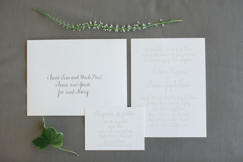 calligraphy invitations calligraphed by the mother of the groom