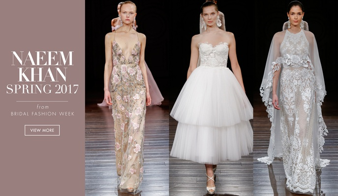 Innovative and Unique Weddings Dresses from Naeem Khan Bridal Spring ...