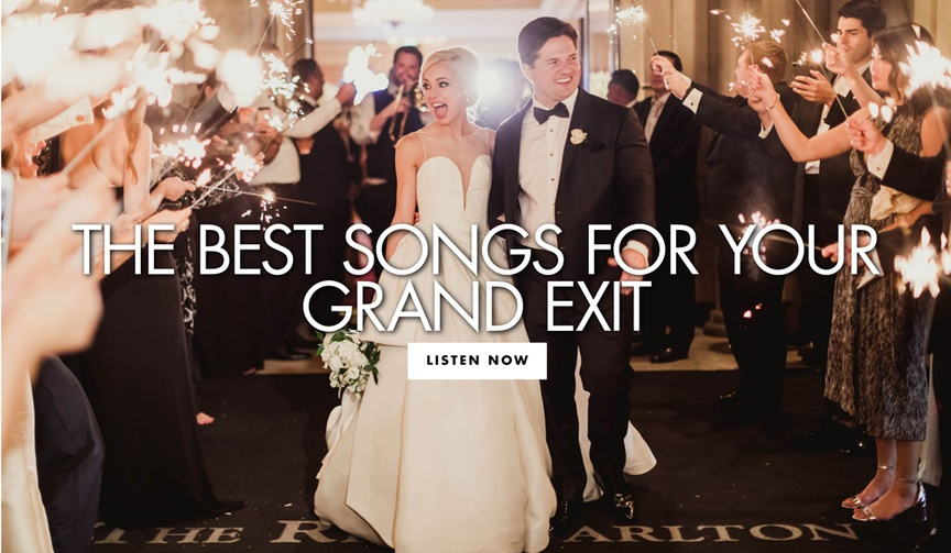 the best songs for your grand exit find out what song should play as you leave your wedding