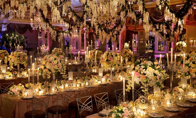 Glamorous Indoor Garden Wedding In New York City Inside