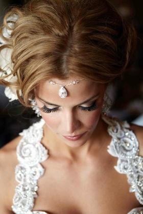 Pamela Pogue jeweled forehead accessory