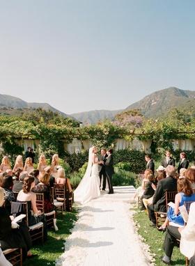 San Ysidro Ranch romantic outdoor wedding