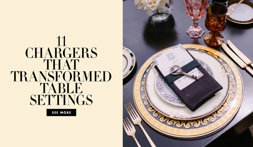 Make your place settings as pretty as your centerpieces!