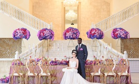 regal wedding styled shoot, interracial couple, interracial bride and groom