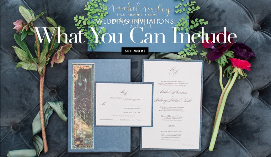 What to include in your wedding invitation and what not to include