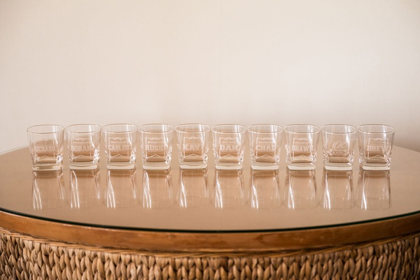 wedding gift ideas for groomsmen engraved shot glasses with names and mustaches