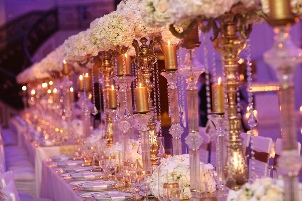 Purple White Gold New Jersey Celebration Inside Weddings