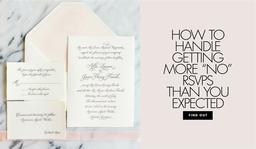 What to do when not as many people as you hoped plan to go to the big day.