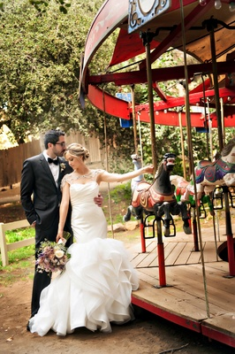 Bride and groom at Calamigos Ranch in Malibu