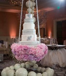 Tamra Barney swinging wedding cake with crystals