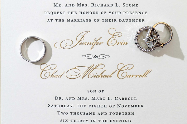 Wedding invitation for Million Dollar Listing Miami star Chad Carroll