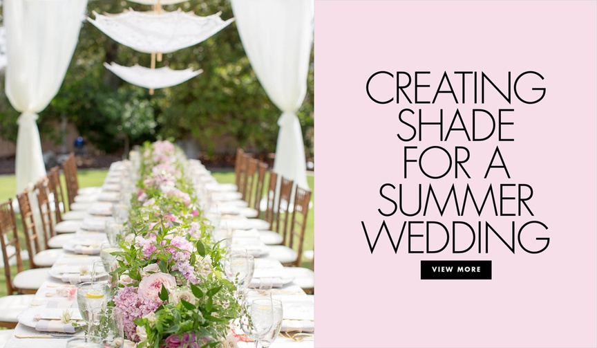 How to create shade for an outdoor summer wedding beat the heat