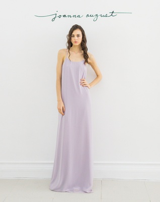 Joanna August 2016  lavender floor length long bridesmaid dress