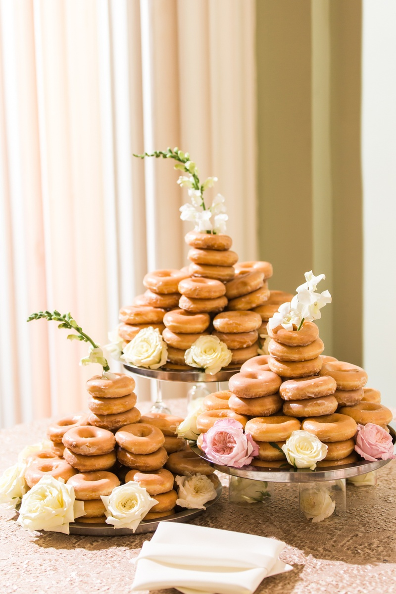krispy kreme tower of glazed doughnuts