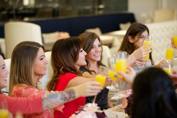 The Bachelorette Ashley Hebert toasting with girlfriends