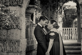 black and white photo of groom and his mother, mother of the groom with son