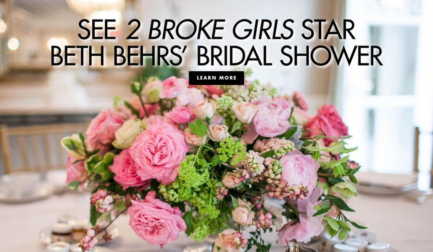 See 2 broke girls actress beth behrs' bridal shower celebrity guest list