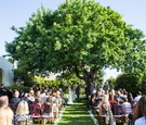 Garden wedding ceremony at La Jolla Woman's Club, California