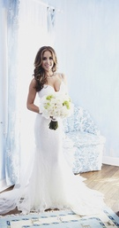 Galia Lahav lace wedding dress with fitted bodice
