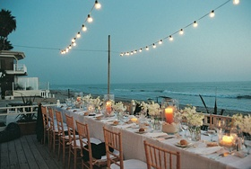 A long reception table boasted ocean views