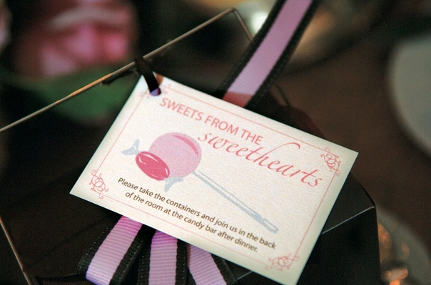 tag for box used for candy bar favors