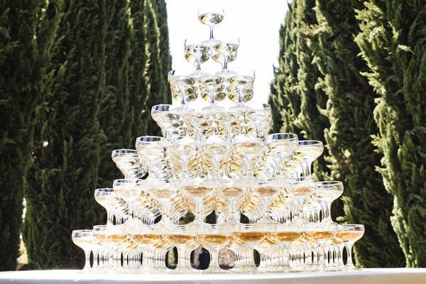 Marie Antoinette coupes stacked on top of each other
