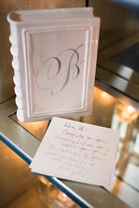 Congratulations note for bride