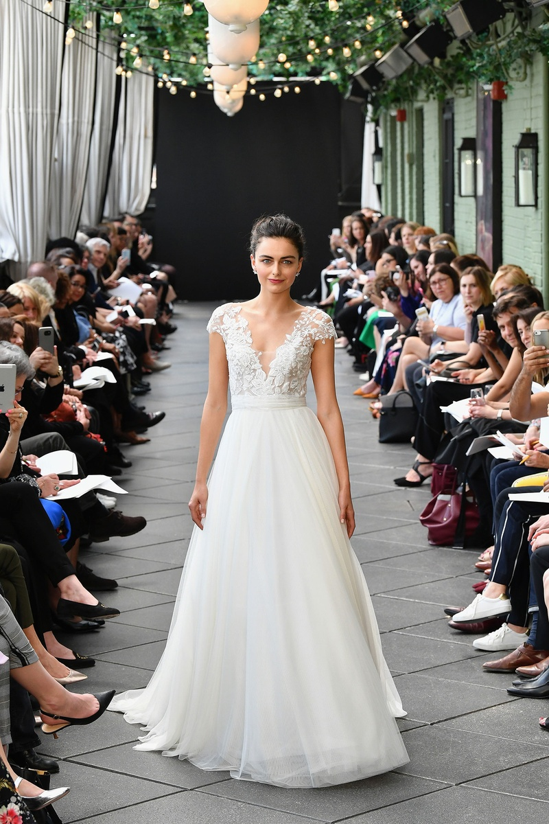 f49b6076dc2 Nouvelle Amsale spring 2019 bridal collection wedding dress Danielle ball  gown a line cap sleeve