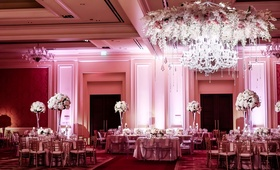 blush ballroom reception space feminine color palette classic dallas texas wedding ritz-carlton