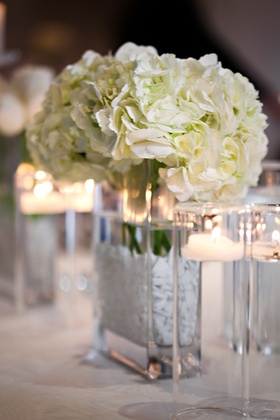 Ivory flowers in rectangular vase