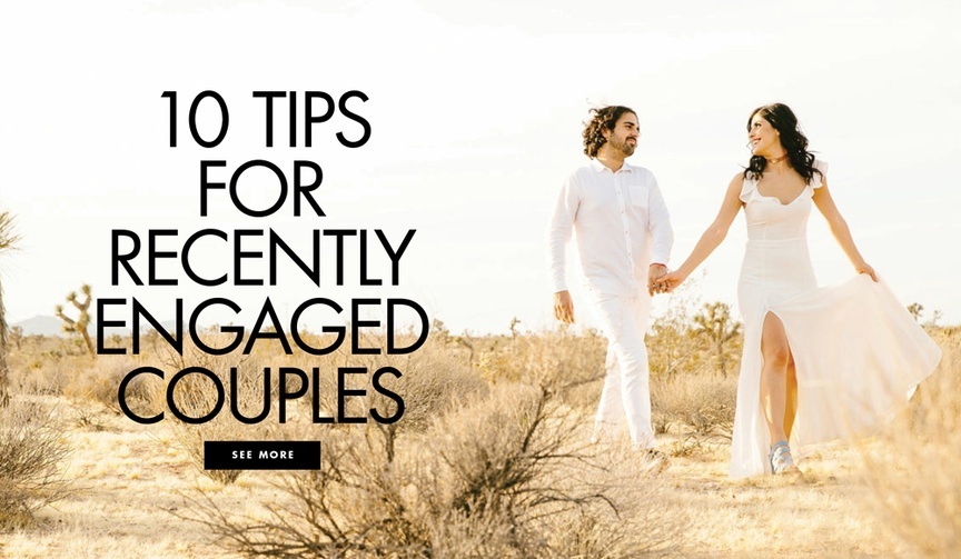 Ten tips for recently engaged couples brides grooms engagement season advice