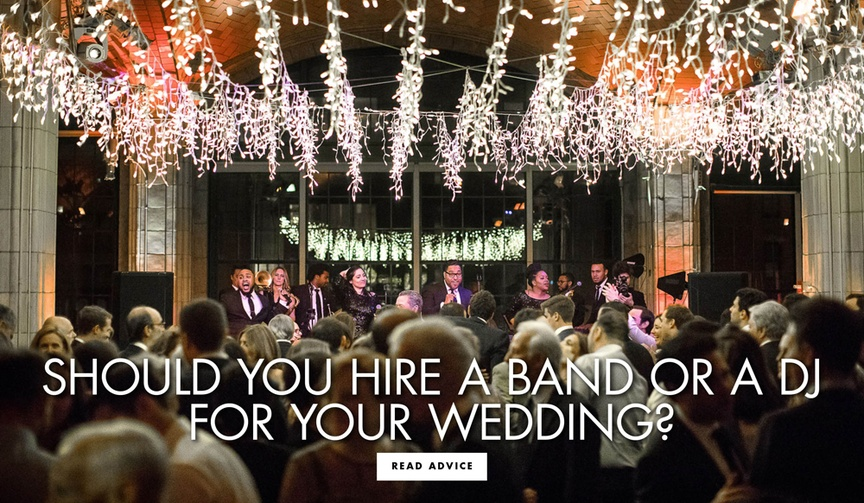 Should you hire a band or a dj for your wedding reception?