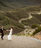 malibu rocky oaks wedding, bride and groom dance on helipad