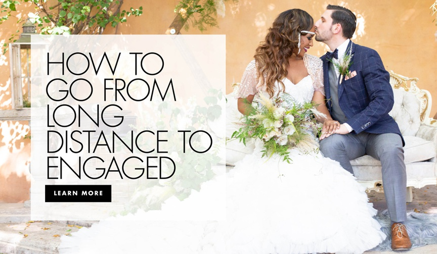 how to go from long distance to engaged wedding advice