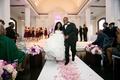Amena Jefferson and Brandon Mebane exit ceremony