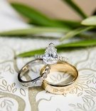 Pear shape teardrop shape wedding ring with pave diamond band and unique wedding ring gold men's ban