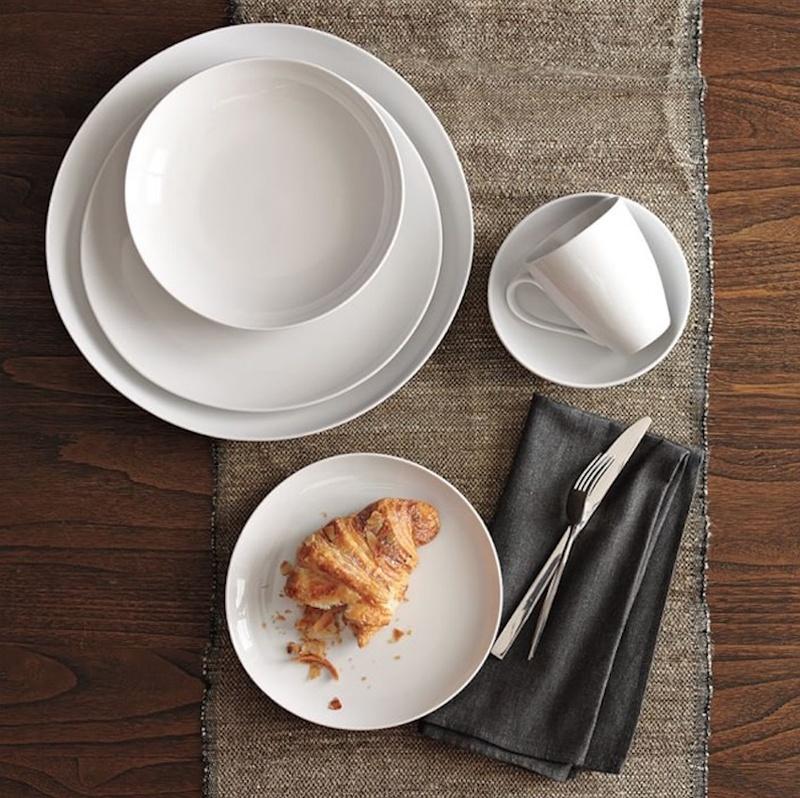Round white dinner plates wedding gift ideas & Registry Photos - Organic Shaped Dinner Plates - Inside Weddings
