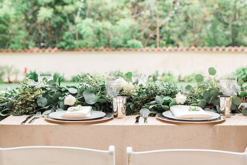 Reception Dcor Photos Lush Foliage Table Inside