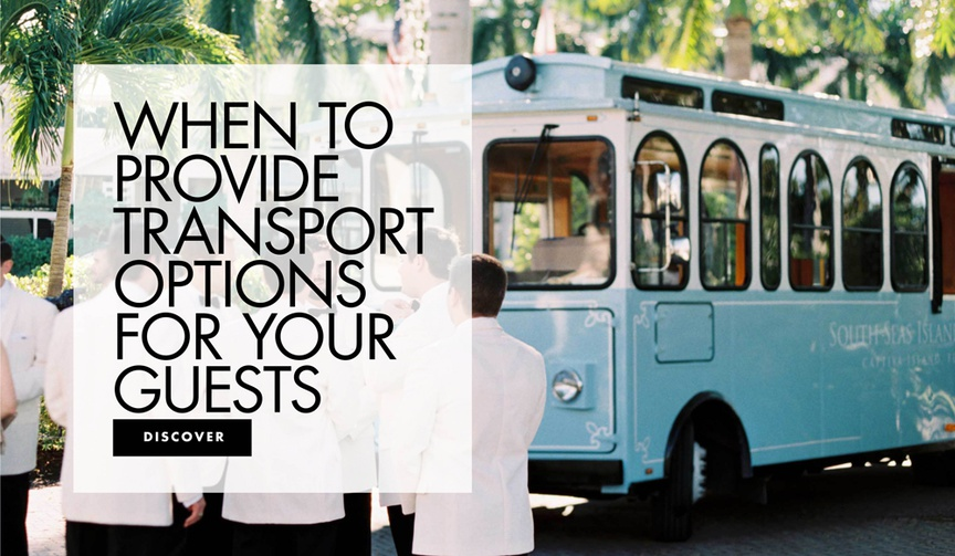 Find out if you should provide transportation for your wedding guests!