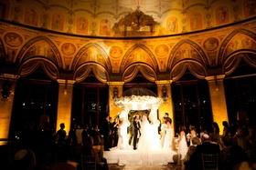 The Breakers Circle Ballroom Jewish wedding ceremony