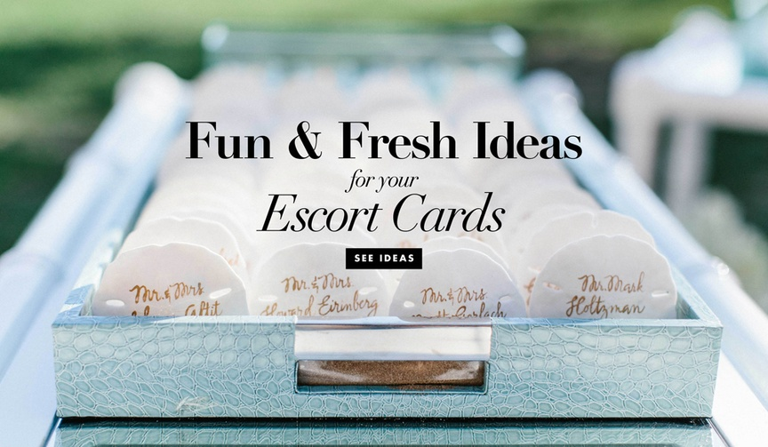 Creative, fun, unique, fresh ideas for escort cards and place cards