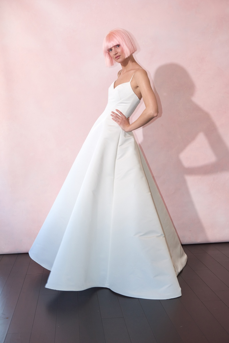 5b3202a1aa ... regina by isabelle armstrong spring 2019 silk ball gown sweetheart  neckline spaghetti straps · ronald joyce regina wedding dress ...