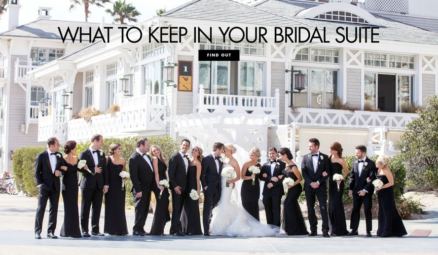 what you should have on hand in your bridal suite